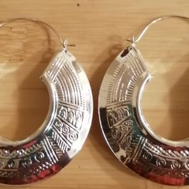 Medium Size Maze Print Earrings ShopnwithTerry