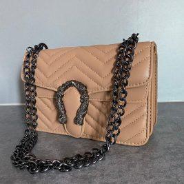 women brown nude purse