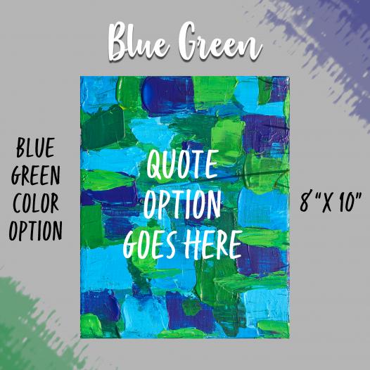 Bold & Beautiful Blue-Green Background Option