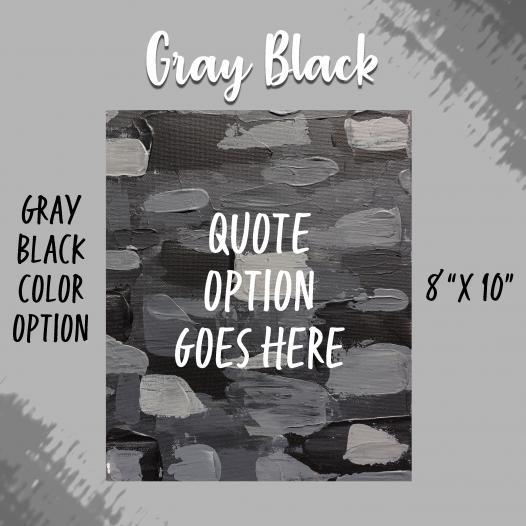 Bold & Beautiful Gray-Black Background Option