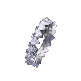 eternity ring sterling silver heart
