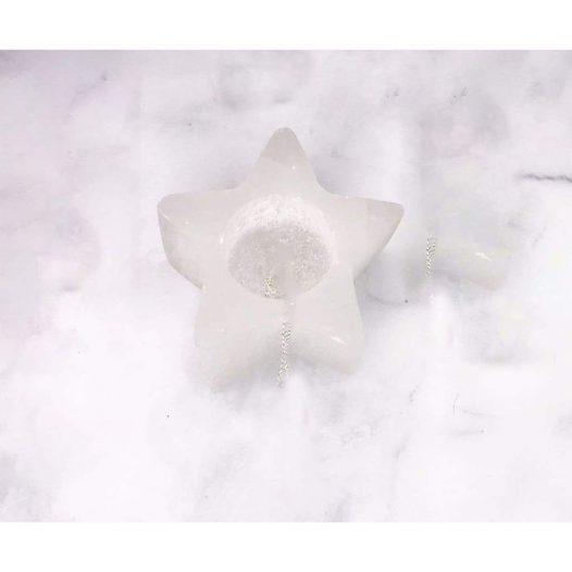 Selenite Star Tea Candle Holder - SOUL IMPACTFUL