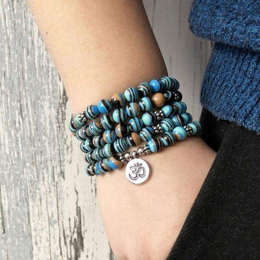 Striped 108 Beads Meditation Bracelet - SOUL IMPACTFUL