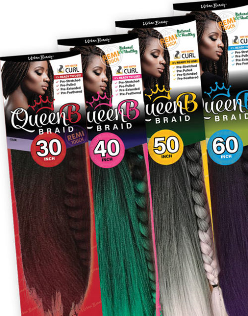 Pre-stretched braiding hair