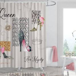 """Queen Boutique"" Inspirational Shower Curtain"
