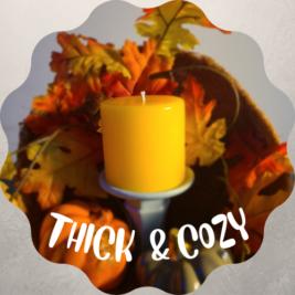 Orange 3x3 Pillar Candle