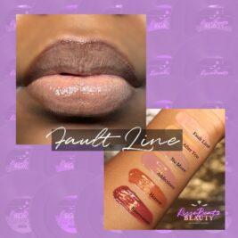 Lip vinyl fault line depicted on music artist Charisse Sky