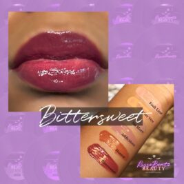 Deep cranberry red shade Bittersweet depicted on music artist Charisse Sky