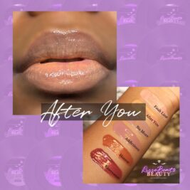 Peach nude shade After You depicted on music artist Charisse Sky
