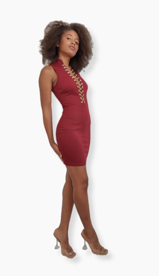 Enamored, Beautiful red dress