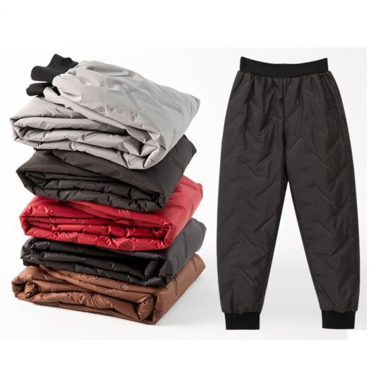 Winter  down cotton trousers thicker women wear high-waist pants windproof warm winter trousers - Adore Me Lovely