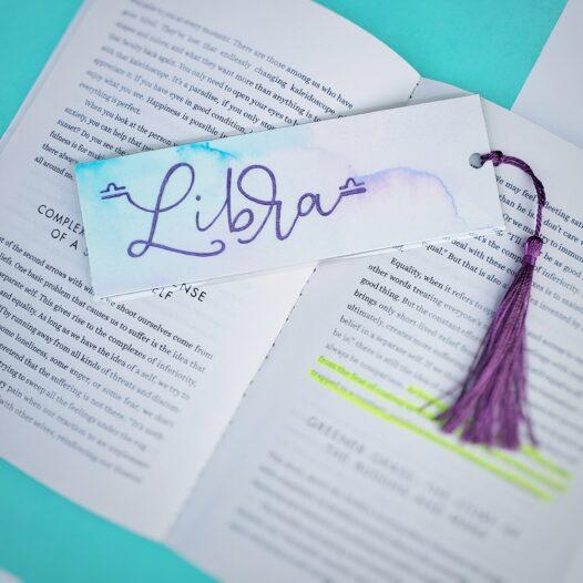 Libra zodiac bookmark